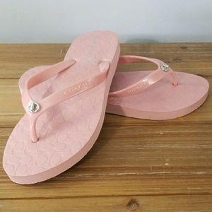Coach flip flops